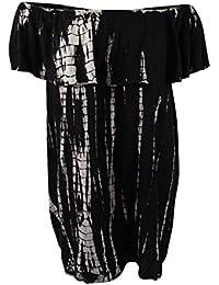 6a56359dde0 Raviya Womens Tie-Dyed Off-The-Shoulder Dress Swim Cover-up Black