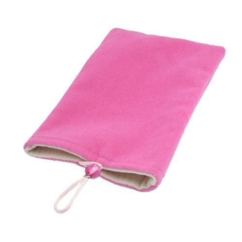Fuchsia Soft Velvet Vertical Tasche für Handy MP3-MP4 Fuchsia Velvet