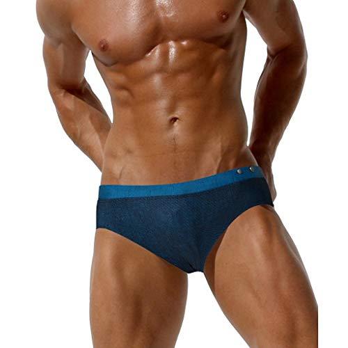 Feytuo bañador Pantalon bañadores Mini bañador Hombre Bikini para Hombre bañador Retro Hombre bañadores...