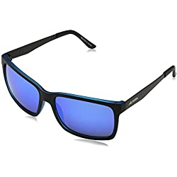 Alpina Sonnenbrille Sport Style DON HUGO, black matt-blue, A8522332