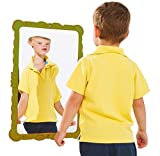 Gartenpirat Verzerrender Spiegel 58x38 cm grün als Spielzeug für Kinder