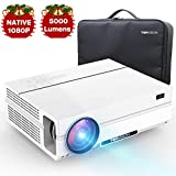 TOPVISION 5000 Lumen Projector, Native 1080p (1920 x 1080) LED Video Beamer tragbarer Full HD, unterstützt HDMI USB SD VGA AV Laptop, für Office Powerpoint Präsentationen Heimkino