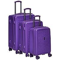 Fessura Luggage Trolley Bags Set 3 pcs 8007-purple