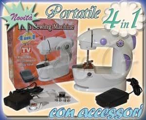 Mini macchina da cucire portatile da viaggio utile in casa for Lidl offerte della settimana macchina da cucire