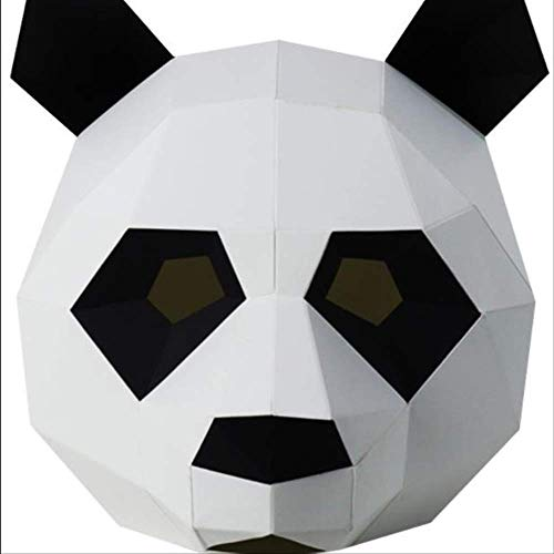 ty Maske DIY 3D Paper Art Animal Series Headgear for Party Photography Party Makeup Party Wedding Birthday Supplies Panda ()