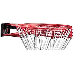 SPALDING - NBA SLAM JAM RIM (78-00SCNR) - Cercle Panier en Acier - Ressorts suspension - Filet résistant - rouge
