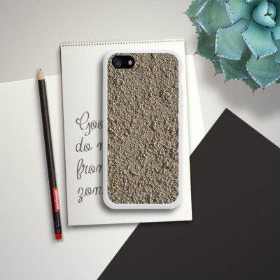 Apple iPhone 4 Housse Étui Silicone Coque Protection Béton Mur Motif structure Housse en silicone blanc