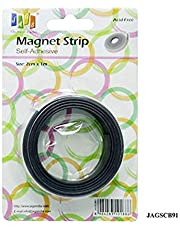 DEZIINE® Magnetic Tape or Magnetic Strip Self Adhesive (2cm x 1m) Ideal for Making Fridge Magnets and Other Promotional Gifts by Yey