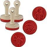 3er Set Keksstempel X-Mas - Backstempel Keks Stempel, Ausstecher, Silikonstempel