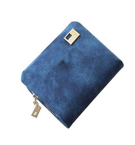 Geldbörsen, Rcool Frauen PU Leder Geldbörse Mini Clutch Handtasche (Blau) (- Tasche Brown-leder-handtasche Geldbörse)