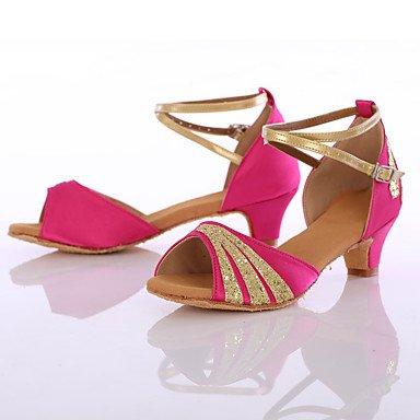 Frauen Tanzschuhe Paillette Synthetische Tanz Sneakers Heels Customized Heel Indoor Blue