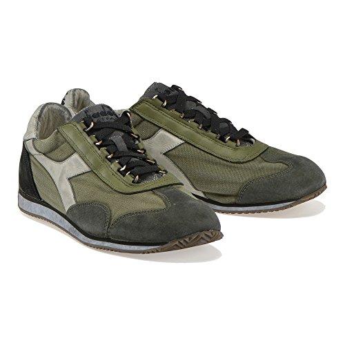 Diadora Heritage Equipe 155765/C7445 Sneakers Uomo, eqipe Stone Wash Dirty, Colore Verde/Beige, Canvas, Nuova Collezione Primavera Estate 2018