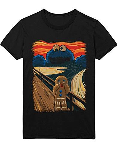 HYPSHRT Herren T-Shirt Cookie Monster The Scream Collage Art K100006 Schwarz XL -