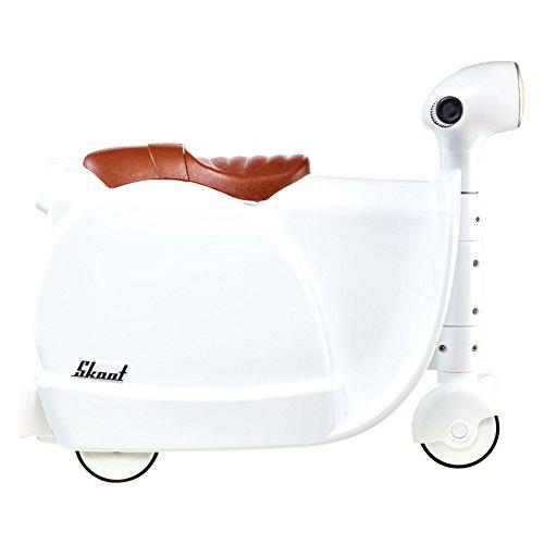 Skoot Moto Valigia per Bambini, Skoot, Bianco, 13 Litri, 46 cm