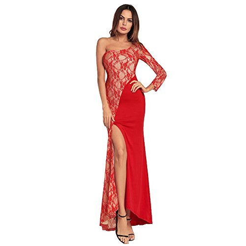 M Wgwioo Con Spalle Dresses Red Donna Smussate Lunga Da Gonna fv7byY6g