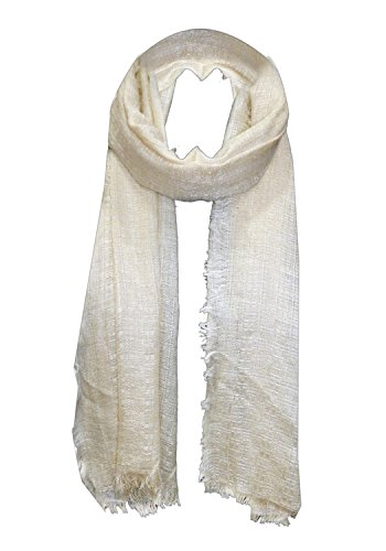 URBAN TRENDZ - Viscose lurex fancy Scarf with 4 side self fringes...
