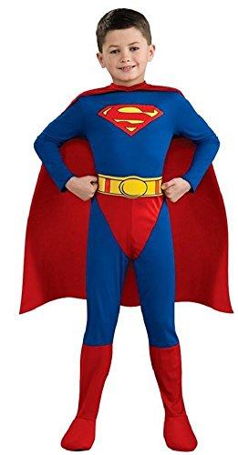 enziert klassisch Superman Hero Buch Tag Kostüm verkleiden Outfit 3-10 Jahre - Blau, Blau, 3-4 Years (Superman Outfit Kind)