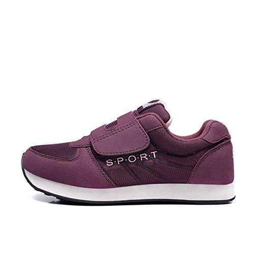 Chaussure de sport souple semelle marche adulte mixte vieillard vieille antidérapage basket homme femme Violet