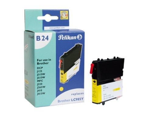 Preisvergleich Produktbild Pelikan B24 Druckerpatrone ersetzt Brother LC985, 7 ml, gelb