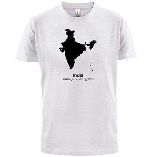 India / Indien Silhouette - Herren T-Shirt - 13 Farben Weiß