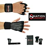 Guantes Gimnasio Hombre-Mujer, para Gym Grips con Muñequera Crossfit Pull Ups (S)