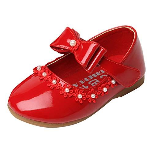 O&N Mädchen Schule Schuhe Blumenmädchen Kleid Ballett Mary Jane Bow Flache Schuhe - Mädchen Ballett Kleid Schuhe