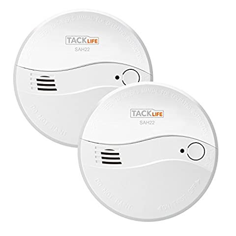 Tacklife SAH22-2 Classic Smoke Alarm for Bedroom Kitchen Warehouse 3-Year Battery Operate Smoke Detector with Newest Photoelectric Sensor(2
