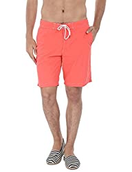 Zobello Mens Solid Quick Dry Cargo Board Swim Shorts(41024A_Bittersweet Orange_XX-Large)
