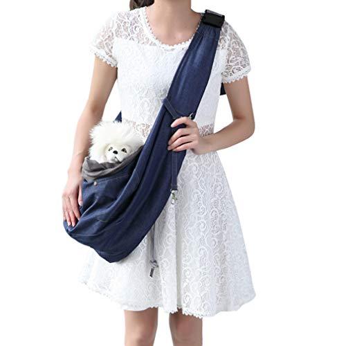 Chenqi Pet Sling Carrier Schultertasche für Kleine Hündchen und Katzen mit Verstellbaren Strap Transporttasche Haustiere, Hund Rucksack, Hund Tragetasche, Umhängetasche Haustiere -