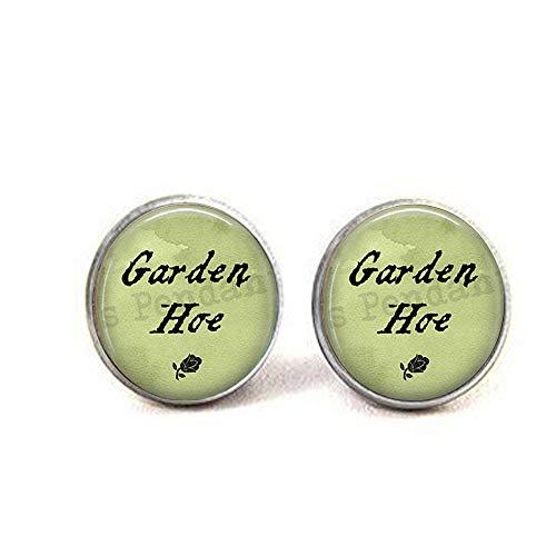 bab Gardening Pun Spruch Gartenhacke Biene Charm, Schmuck Geschenk für Gärtner, lustiges Zitat, Gartenhacken-Ohrringe, Bibel-Spruch Anhänger