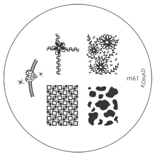 KONAD Stamping Pochoir pour nail art M61