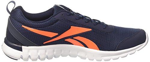 Reebok Sublite Sport, Scarpe da Corsa Uomo Multicolore (Navy/Orange/White)