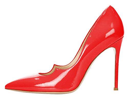 Guoar - Scarpe chiuse Donna Rosso (rosso di vernice)