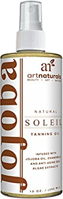Art Naturals Protective Body Tanning Oil 237 ml Spray Serum -With Moisturizing & Nutritive Benefits - Made in the USA 98% Natural with Coconut, Safflower, Avocado Oil & Infused with Jojoba Oil