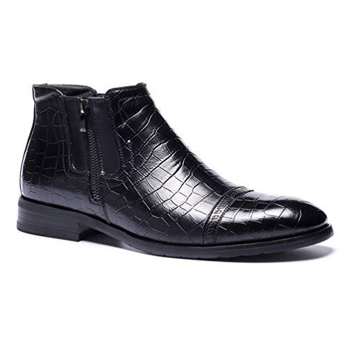 Stivali da uomo chelsea stivali comodi in pelle retrò stivaletti autunno inverno scarpe eleganti con cerniera