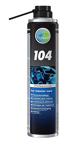 TUNAP PROFESSIONAL INNENRAUMPFLEGE 104 Auto Fahrzeug Innenraum-Pflege-Spray Gurt-Pflege Cockpit-Reiniger-Pflege-Schutz Kunststoff-Gummi-Pflege 400ml