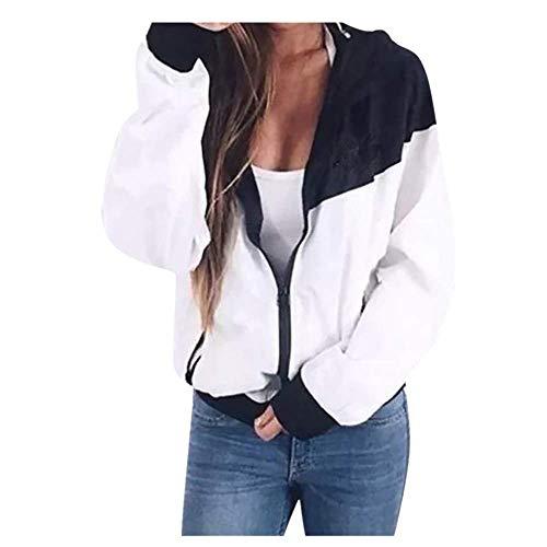 Briskorry Damen Mantel Sport Pullover Jacke Mode Strickjacke Herbst Winter Sweatshirt Sport Mantel Retro Bomber Jacke Zipper Weste Vintage Outwear mit Taschen -