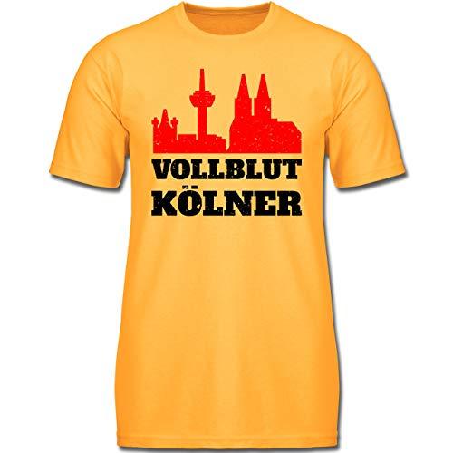 Städte & Länder Kind - Vollblut Kölner - 140 (9-11 Jahre) - Gelb - F130K - Jungen Kinder T-Shirt