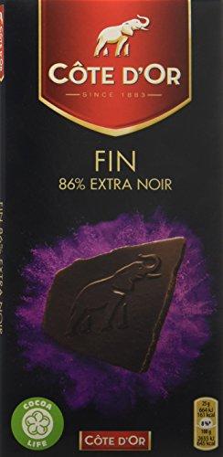 Côte d'Or Chocolat 86% Noir Brut la Tablette 100 g - Lot de 5