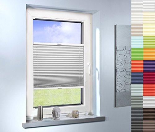 SUNWORLD Plissee nach Maß, hochqualitative Wertarbeit, für Fenster und Türen, alle Größen, Maßanfertigung, Jalousie, Faltrollo (Farbe: Off White, Höhe: 171-180cm, Breite: 71-80cm)