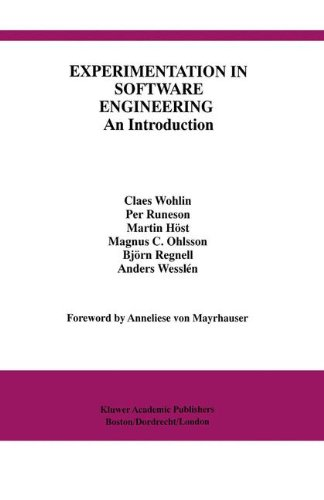 Experimentation in Software Engineering: An Introduction (International Series In Software Engineering)