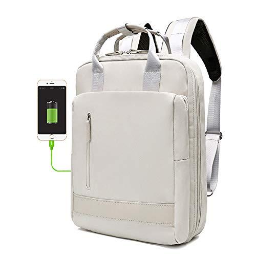 G&L Damen Outdoor Rucksack Mode Schulrucksack Für Mädchen Backpack Rucksack Schulrucksack Rucksäcke Mit Laptopfach Für Camping Outdoor Sport, Perfekt Für 15.6-Zoll-laptops,mit USB-ladeanschluss,White