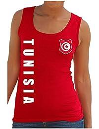 Tunesien Tunesia Damen Trikot Fanshirt Top Shirt WM 2018 Name Nummer