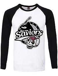 T-Shirt à manches longues The Saviours Homme Noir et Blanc