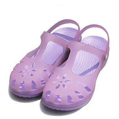 Ch & Tou Femmes-sandales-décontracté-bout Rond / Sandales Plates-pvc-bleu / Vert / Rose / Violet Mauve