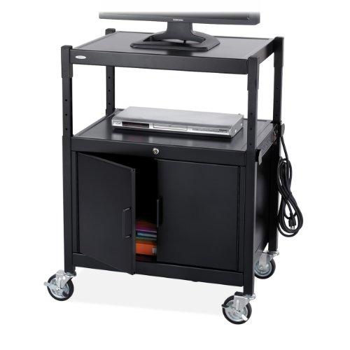 Safco Verstellbarer AV-Wagen Stahl schwarz -