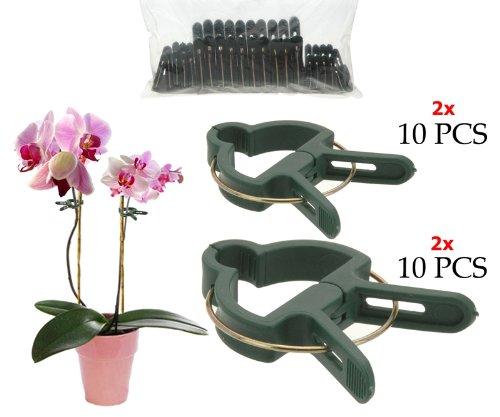 Pflanzenclips 20Stück 4,5cm und 6,5cm gefedert Pflanzenklammern Pflanzenhalter