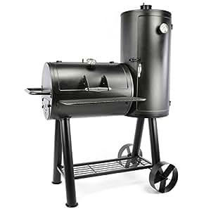 Nexos Smoker Grill Räucherofen BBQ Grillwagen XXXL 70 kg Barbecue 113 x 160 cm