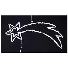 Idea Regalo - IMPORTEX Stella Cometa 80 Led Colore Bianco e Blu da 4 Metri