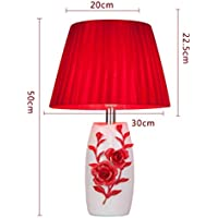 ZYCkeji Zart Tischlampe rote Lampe Schlafzimmer Nachttischlampe einfache Moderne kreative Mode Originalität preisvergleich bei billige-tabletten.eu